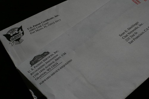 got patent? junk mail ensues