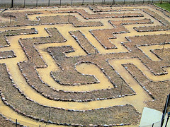 art, soil, sand, maze, labyrinth,