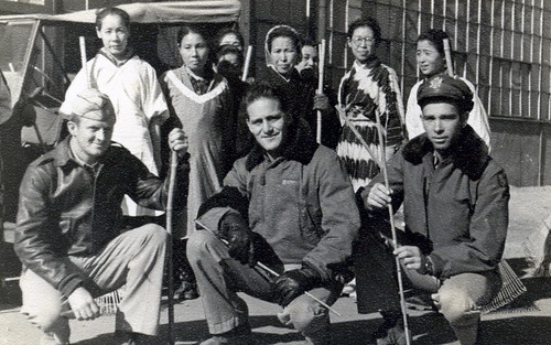 Seymour Gibbs and Okinawa Villagers - 1945