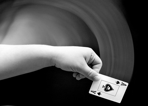 Dealing Cards in Slow Motion and Rear Curtain Flash