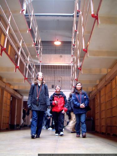 amy, mark and julie on the alcatraz audio tour   dscf3853