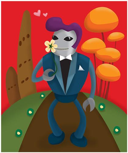 主题插画 无敌机器人