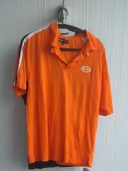 orange, active shirt, clothing, collar, sleeve, polo shirt, sportswear, t-shirt,