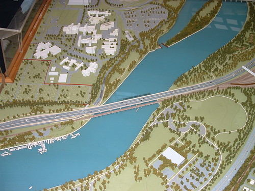 Barney Circle Freeway bridge (unbuilt)
