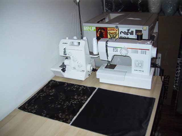 sewing machine station
