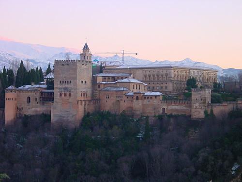 sunset españa paisajes snow architecture sunrise landscapes andalucía spain arquitectura nieve clear alhambra granada andalusia islamicarchitecture laalhambra