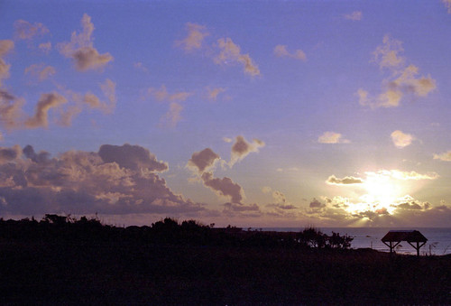 Sunset in Easter Island