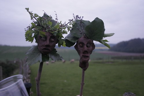 Green Men at the Beltain Festival..