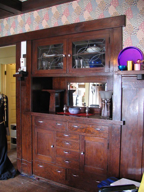 Craftsman Style Built In Sideboard Clean Flickr