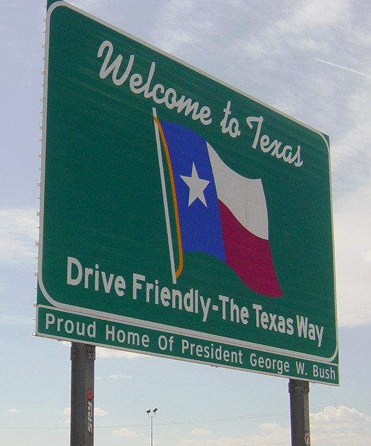 Welcome to Texas Highway Sign