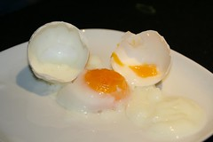 meal(0.0), blancmange(0.0), produce(0.0), icing(0.0), dish(0.0), dairy product(0.0), dessert(0.0), egg(1.0), food(1.0), egg(1.0), egg yolk(1.0), cuisine(1.0),