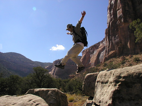 Leap at the Colorado National Monument
