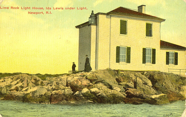 Lime Rock Lighthouse In Rhode Island