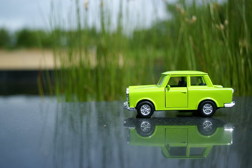Trabant and water feature