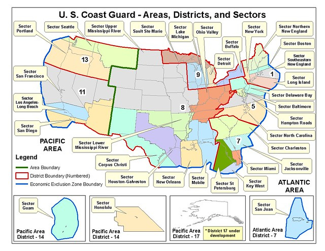 Coast guard sector boundaries flickr photo sharing