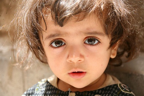 Young girl with big eyes - Yemen