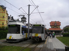 Trams in De Haan