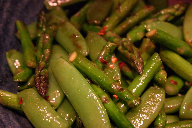 Asparagus with Sugar Snap Peas | Flickr - Photo Sharing!