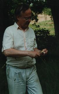 Dad with a mushroom