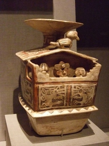 Vessel in the form of a palace with a wall frieze Peru north coast Recuay culture 2nd century BCE-5th century CE Earthenware