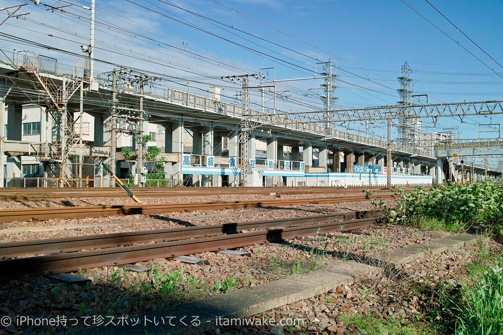 南方貨物線の数少ない残っている線路