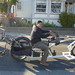 Ariel heading out on the Ten Footer, towing a concept cruiser from one of his bike clubs. by Rock The Bike