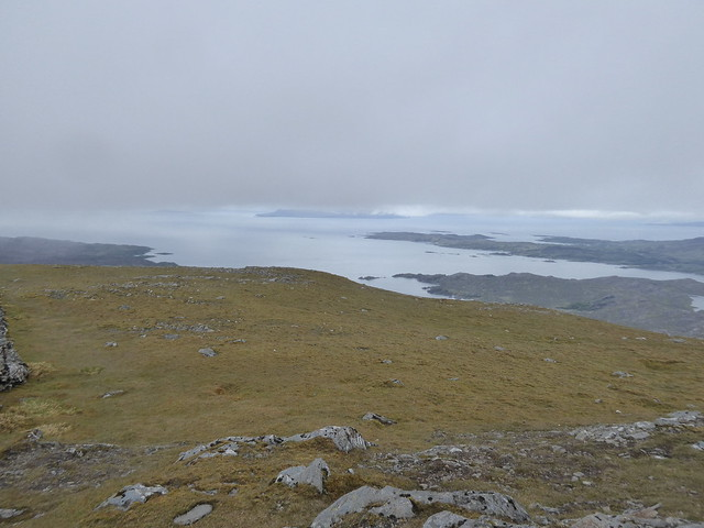 Out to sea from Rois-Bheinn west summit