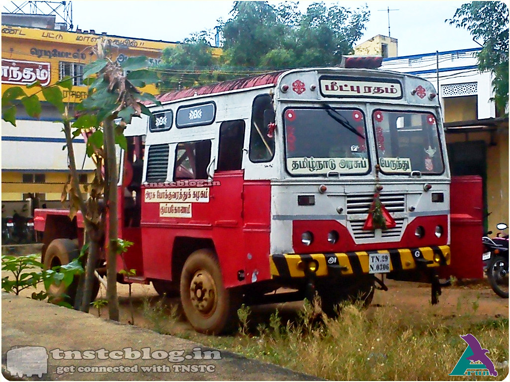 TN-29N-0306 TNSTC Karaikudi Region Recovery Vehicle.