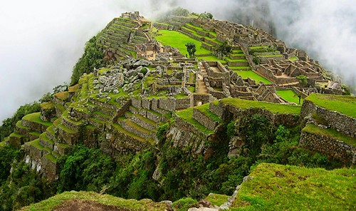 panorama mist green abandoned peru southamerica nature clouds sunrise ancient ruins landmark unesco worldheritagesite stunning mountainside machupicchu clearsky lostcity historicmonument beautifullandscape machupicchutrail beatifulphotography