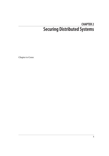 Securing Distributed Systems