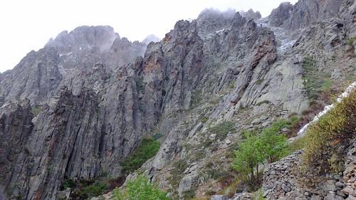 Le couloir de montée vers la crête Nord de Cima a I Mori