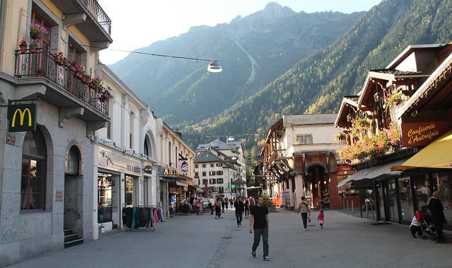 chamonix town stroll france