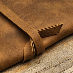 SPIN ME ROUND | Handmade Organic Leather Sleeve | Sustainable | Made to Order |