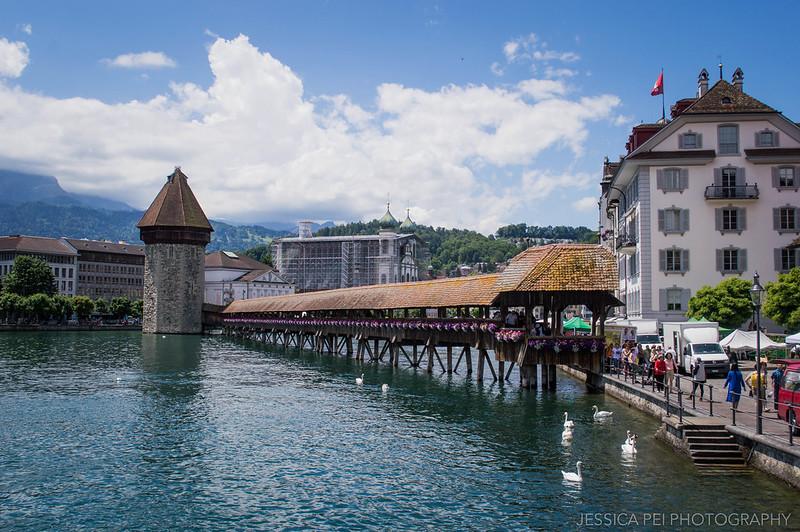 Kapellbrücke (Chapel Bridge) Lucerne Switzerland