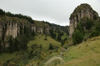 Valley behind the town of Salinas, Ecuador