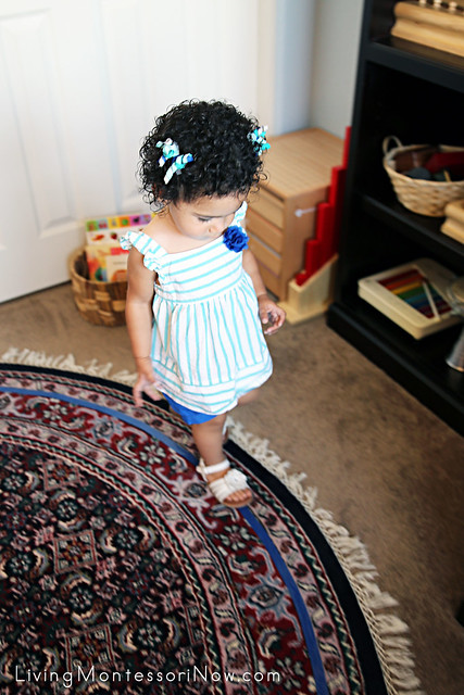 Walking on the Line at 20 Months