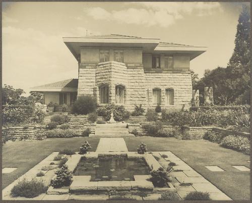 Garden elevation of E. H. Pratten Esq. residence