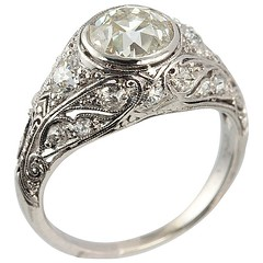 Edwardian Engagement ring Craig Evan Small