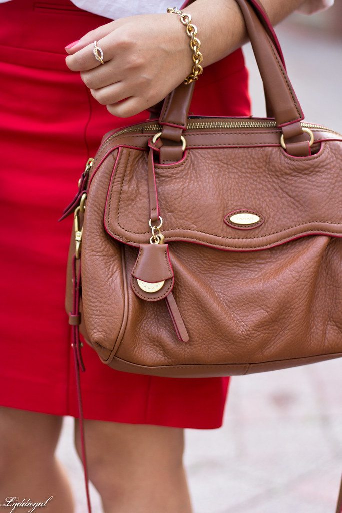 white popover, red pencil skirt, brown bag and sandals-7.jpg