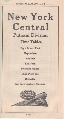 NYC Putnam Div 1947 Cover