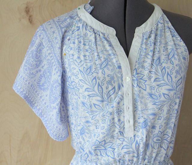 how to add drape sleeves to a sleeveless dress tutorial diy
