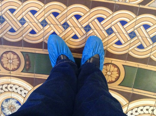 Blue Shoes.
