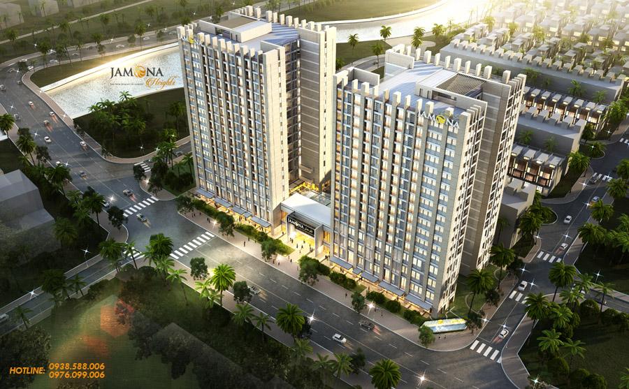 Jamona Heights là dự án khu căn hộ cao cấp, khép kín ven sông tại Quận 7.
