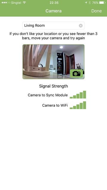 Blink iOS App - Blink Camera - Setup Done