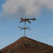 Weather vane on Stoke Knapp Farm