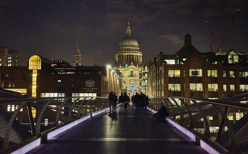 Millenium Bridge, St. Paul's, London