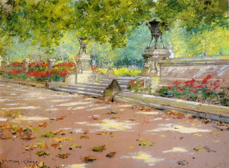 Sunlight and Shadow in Prospect Park by William Merritt Chase, 1887