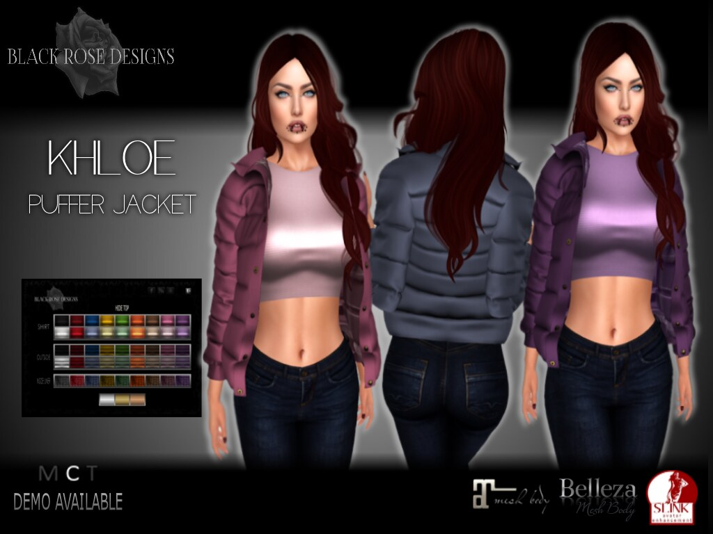 [[BR]] KHLOE PUFFER JACKET -ADVERT- - SecondLifeHub.com