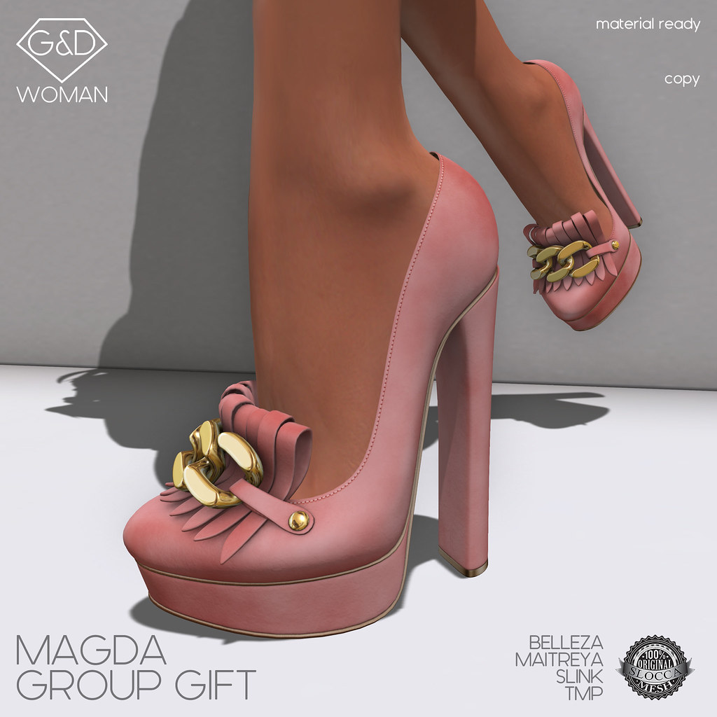 G&D Shoes Magda Salmon Group Gift - SecondLifeHub.com
