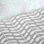 Grey printed fabric from Elephantinmyhandbag.com